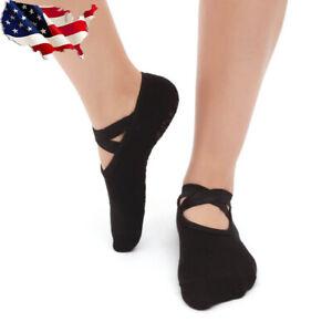 3 Pairs Women's Ballet Grip Yoga Massage Ankle Pilates Anti-slip Dance Gym Socks