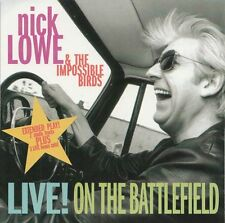 NICK LOWE Live! On the Battlefield | very rare CD USA 1994 | 5 Tracks EP