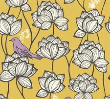 Vlies Tapete Floral Blumen Vögel gelb weiß lila Palila 363173