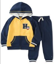 Tommy Hilfiger 2-pc. Zip-up Hoodie & Jogger Pants Set Baby Boys 12 Months