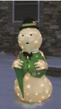 Christmas Rudolph Sam The Snowman Outdoor Tinsel Lighted Display Frosty