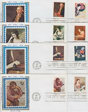 USA FDC 1137 - 1144 auf 8 FDCs, gest. 1974, Kunst, ART, first day cover
