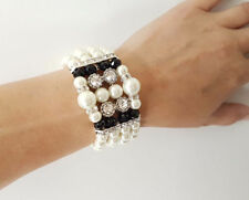 Unbranded Crystal Glass Mixed Metals Costume Bracelets