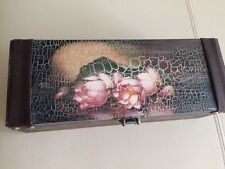 hand decorated big wooden jewelry box