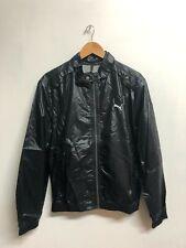 Puma Men's Bomber Jacket Active Nylon Full Zip Jacket - Black - New