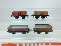 AZ529-0,5# 4x Trix Express H0/DC Güterwagen/Hochbordwagen DRG: 20/61 + 20/71