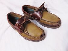 SPERRY Top Sider Boat Dock Shoes Sz 12 M Leather 2-Eye MAKO Collection 0768143