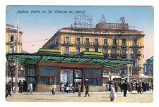 Puerta Del Sol - Madrid Photo Postcard c1920s