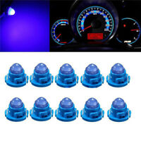 10x T4.7 Blue Wedge Neo LED Bulb Dash Climate Control Instrument Base Light
