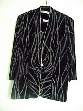 Formal Ladies Jacket and Camisole Black & Silver Size M