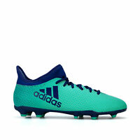 adidas Junior Boys X 17.3 Firm Ground Football Boots in Green