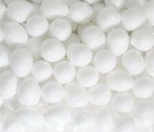 100 Mini Polystyrene Foam Easter Eggs 18mm Paint Art Craft Bonnet Hunt Game 6535