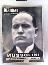 IL MERIDIANO D'ITALIA GIORNALE COMPLETO - MUSSOLINI IN COPERTINA-