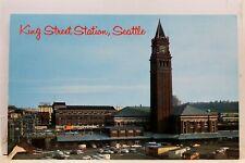Washington WA Seattle King Street Station Postcard Old Vintage Card View Post PC