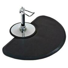 Anti Fatigue Semi Circle Hair Stylist Salon Barber Black Floor Mat- 3' x 4'