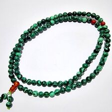 6mm Tibet Buddhism 108 malachite stone Prayer Bead Mala Necklace