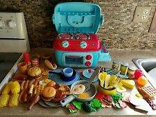 Early Learning Centre ELC Brand Pretend Play Kitchen Stove/Oven, Food, Dishes