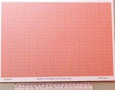 N gauge (1:160 scale) red brick paper - A4 sheet