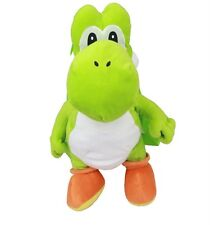 "NWT Super Mario Brothers Yoshi Plush Backpack (L)18"" Licensed by Nintendo"