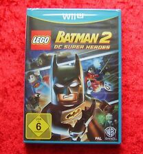 Lego Batman 2 DC Super Heroes, Nintendo Wii-U Jeu, nouveau neuf dans sa boîte, version allemande