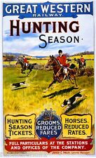 1890s Hunting Season Vintage Great Britain Railway Travel Advertisement Poster