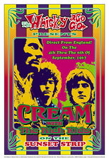 Power Trio: Eric Clapton & Cream at Whisky A Go Go in L.A. Concert Poster 1967
