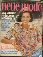 MARCH 1976 NEUE MODE vintage GERMAN fashion magazine