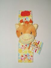 RUSS Berrie Giraffe Baby Unisex Wrist Rattle Soft Plush Toy/Shower Gift-Small