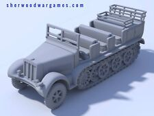 28mm German Sdkfz 7 Heavy Gun Tow In Resin By Blitzkreig WWII Bolt Action,
