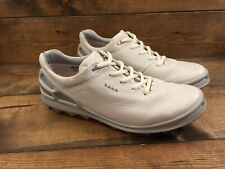 Ecco Women's Golf Cage Pro Shoes NEW (White/Silver/Pink, 9-9.5, Medium) NEW