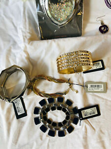 Joblot Of Vintage/modern Costume Jewellery Beads Necklaces, Rings Bangles Etc