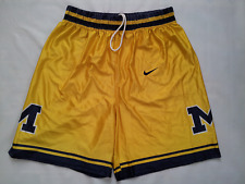 VINTAGE RARE MADE IN USA NIKE MICHIGAN WOLVERINES CLASSIC BASKETBALL SHORTS  XL