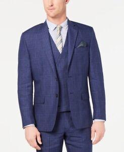 Lauren Ralph Lauren Mens Classic-Fit UltraFlex Stretch Blue Plaid Suit 40L