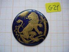 Petit médaillon émail Lion émaillé bijoux montre enamel zodiaque p21