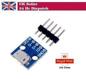 USB Micro-B Breakout Board Power Charging Converter Module