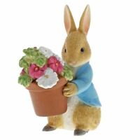 Beatrix Potter Peter Rabbit Brings Flowers Miniature Figurine