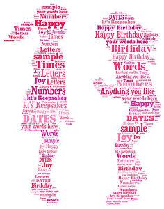 word art personalised gift present keepsake christmas birthday sisters friends