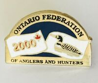 Ontario Federation Of Anglers And Hunters 2000 Pin Brooch Badge Rare (C2)