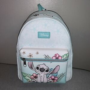 Disney Loungefly Lilo & Stitch Hibiscus Flowers Sketch Floral Mini Backpack NWT