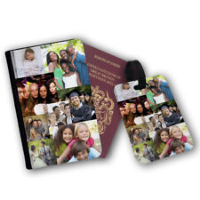 Personalised Custom Photo Collage Print Travel Passport Case Cover Luggage Tag
