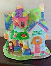 "Hoppy Hollow Porcelain Lighted Village Cottage ""Bunny's Boutique"" 4 1/2"" 2004"