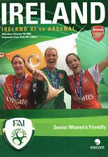 More details for ireland ladies v arsenal ladies friendly programme 7/2/2008