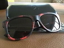 Alexander McQueen patterned red and black unisex sunglasses