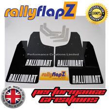 rallyflapZ Mitsubishi Evo 1, 2 & 3 Mudflaps & Fixings Black Kaylan PU Logo White