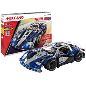Meccano 25-in-1 Supercar Set Motorized S.T.E.A.M Building Kit