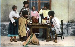 1910 Bulgarian Cossacks Traditional Costume Postcard LI