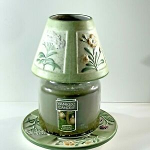 Yankee Candle Small Shade & Plate For Small Candle Jar Summer Flowers Spring