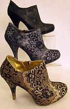 Slim Booties Textile Boots for Women