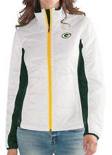 "Green Bay Packers Women's NFL G-III ""Fullback"" Full Zip Quilted Jacket"