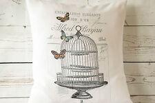 "Chic Birdcage - 16"" cushion cover French shabby vintage chic - UK handmade"
